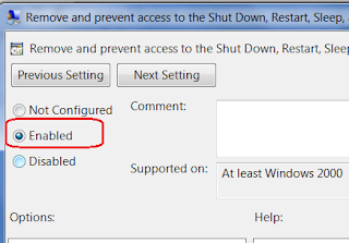 Disable Shutdown Button