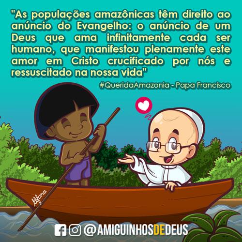 querida amazônia papa francisco desenho
