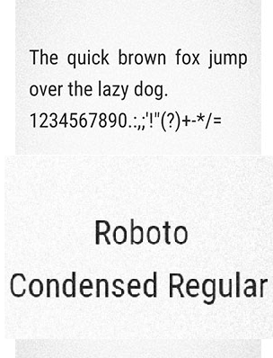 Roboto Consended Regular Fonts itz For Vivo