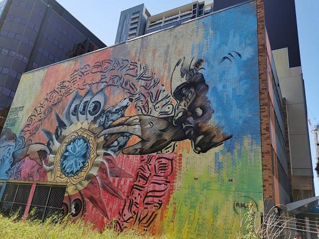 Parramatta Street Art   Mural by Knoswet & Dcydes