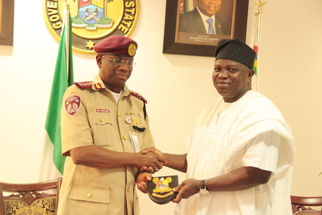 Ambode places PERMANENT ban on VIO officials, bans FRSC from State Roads