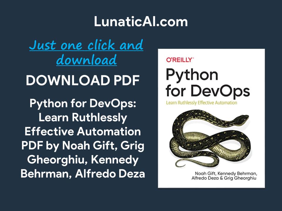 python for devops pdf github