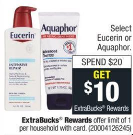 Eucerin & Aquaphor
