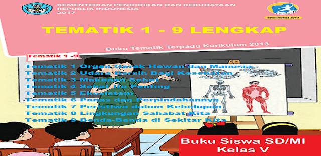 Materi Buku Kelas 5 Tematik 1-9 Kurikulum 2013 Lengkap jalurppg.id