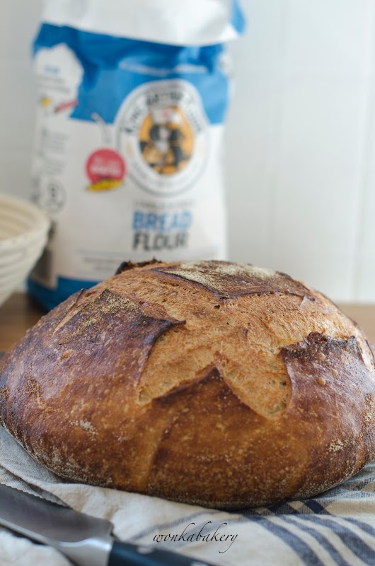Beginners' sourdough white bread -english version-