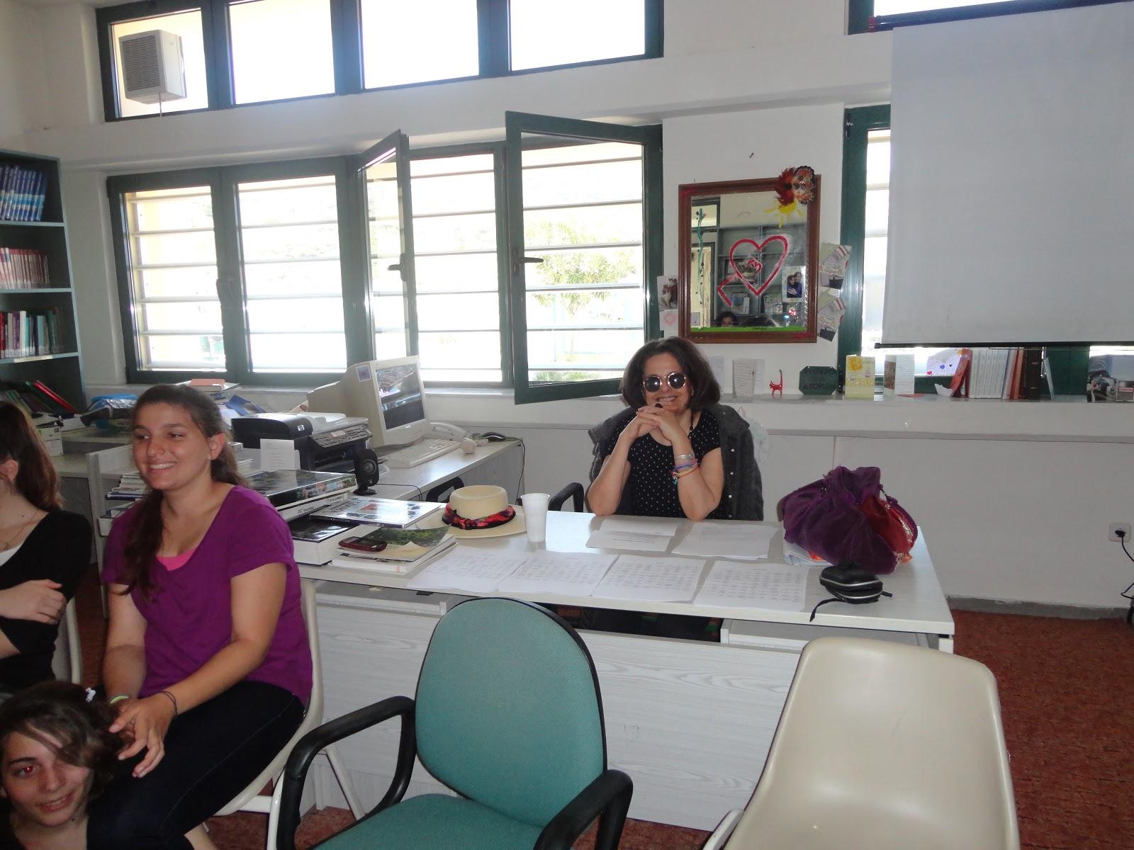 Η Βούλα Μάστορη στη βιβλιοθήκη του σχολείου μας! 5901197cf67