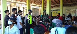 Babinsa Koramil 0820/26,Tegalsiwalan Pantau Terus Pelaksanaan Vaksinasi di Wilayahnya