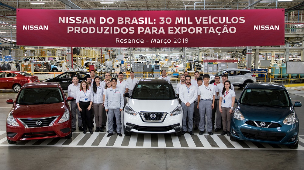 Nissan Brazil produces 30,000 cars for export