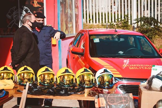 Zaffalon entrega cerca de R$ 776 mil em equipamentos e viaturas para o Corpo de Bombeiros de Gravataí