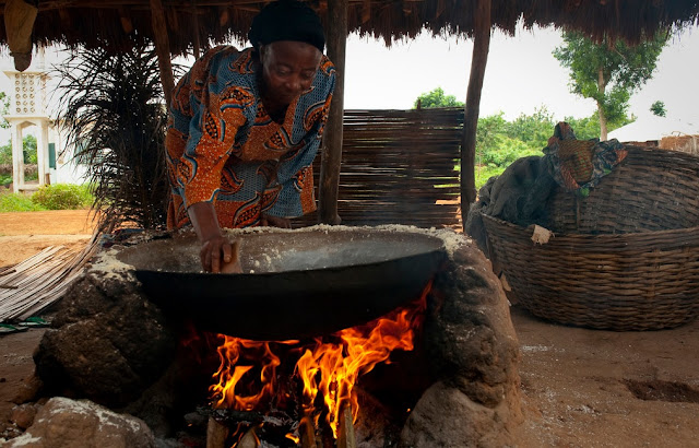 Cooking in Africa for the village
