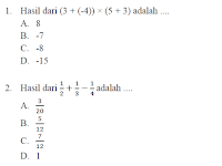 Latihan Soal Matematika Persiapan UN SMP