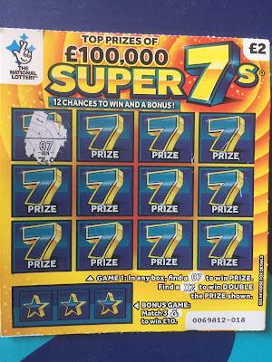 £2 Super 7s Scratchcard Winner