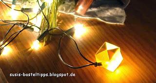 Stampin Up Baumwollpapier als Lichterkette