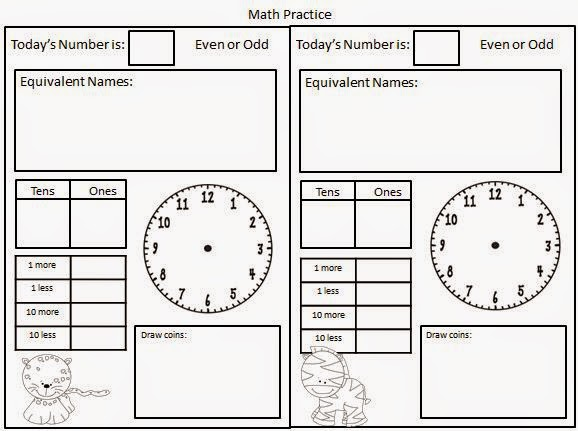 Classroom Freebies: Daily Math Pages