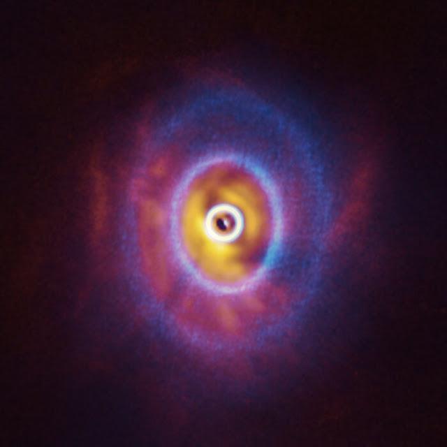GW Orionis - sistema triplo com possível planeta orbitando as 3 estrelas