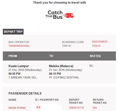 Beli Tiket Bas Online Dari Malaysia Ke Singapura