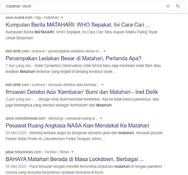 tanda minus Google Search Engine Optimization