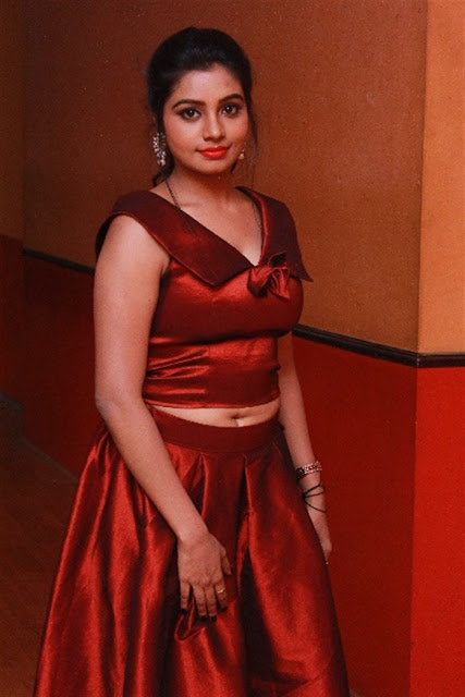 Tamil Actress Anisha Xavier Pos in Red Dress at Pichuva Kaththi Tamil Movie Audio Launch  0001.jpg