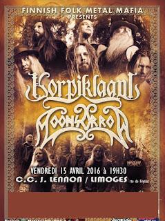 L'affiche du concert Moonsorrow & Korpiklaani à Limoges