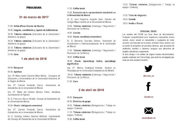 II Jornadas de Formación sobre Representación Estudiantil.