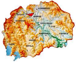 Geografija Geografska Karta Na R Makedoniјa