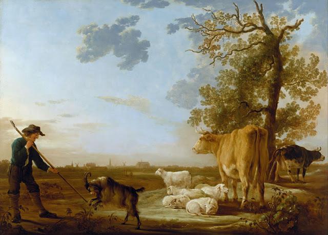 Альберт Кёйп - Пейзаж со стадом. 1640-е