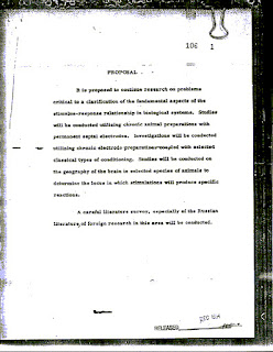 Declassified MKUltra documents by Central Intelligence Agency
