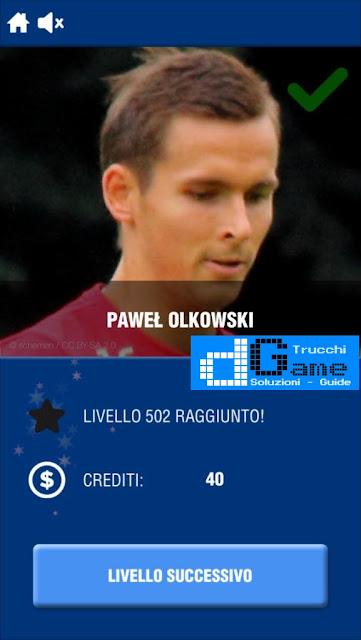 Calcio Quiz 2017 soluzione livello 501-510 | Parola e foto