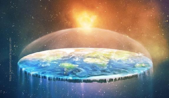 Posible forma de la tierra según los terraplanistas