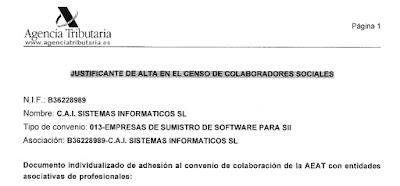 SII: Suministro Inmediato de Información - CAI Sistemas Colaborador social de la AEAT - Portal SII