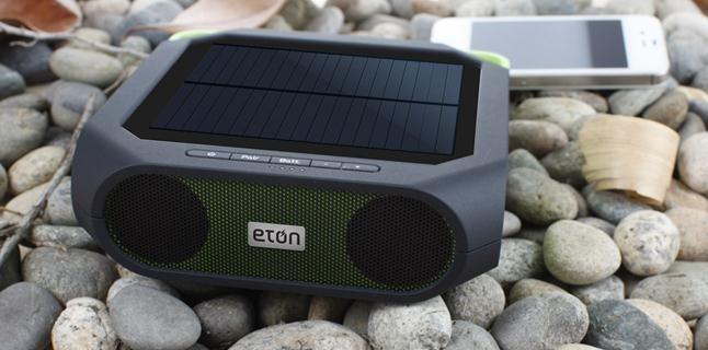 Eton Solar-Powered Bluetooth Speakers