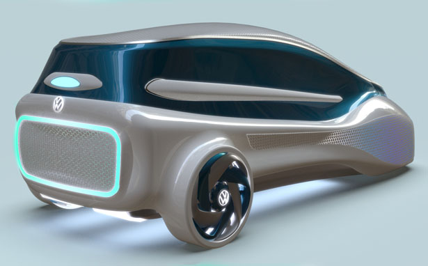 futuristic eco-friendly car