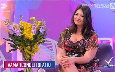 Elisa D'ospina vestito floreale Detto Fatto