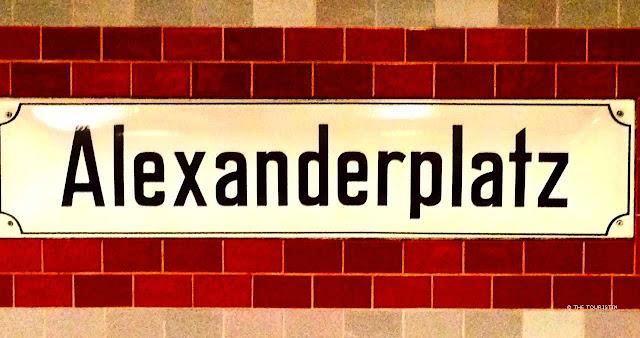 Alexanderplatz -  sign at tube station