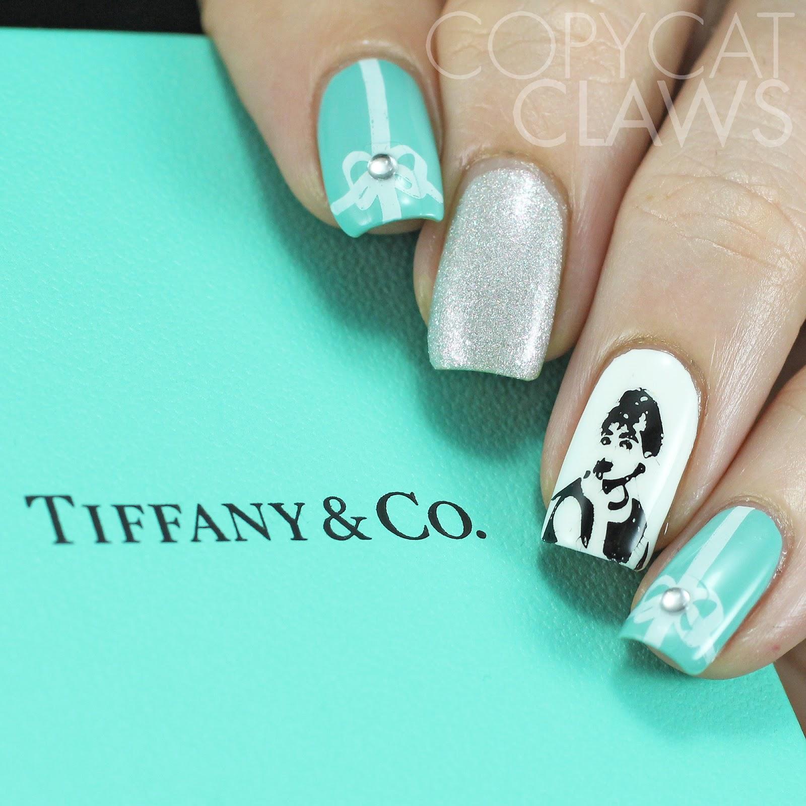 Tiffany Blue Nail Art: Copycat Claws: Sunday Stamping