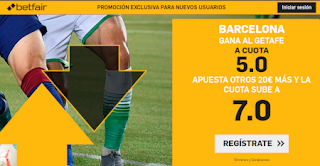 betfair supercuota liga Barcelona gana al Getafe 28 septiembre 2019