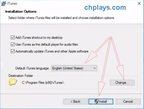 Cài đặt iTunes 64 bit trên máy tính, laptop windows 7, 10 a