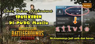 Cara Membuat Nickname Dengan Spasi Keren Di Game PUBG Mobile