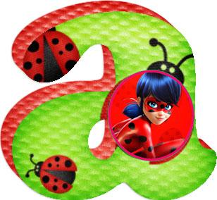 Abecedario de Miracoulus Ladybug. Miracoulus Ladybug Alphabet.