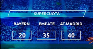 Mondobets supercuota Bayern vs Atletico 21-10-2020