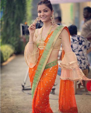 Rubina Bollywood actresse in saree