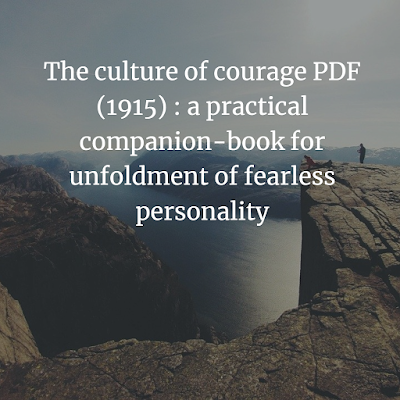 The culture of courage