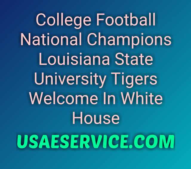 College Football National Champions Louisiana State University Tigers