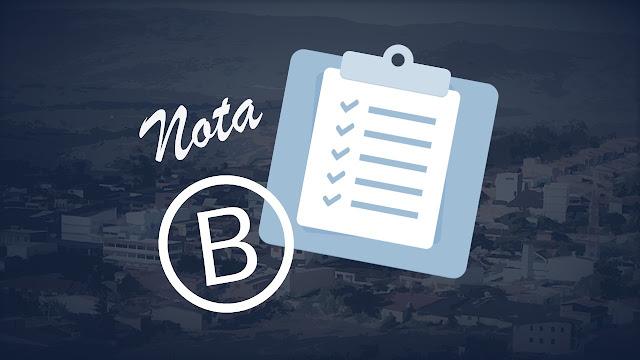 Índice com nota B para o município de Panelas-PE