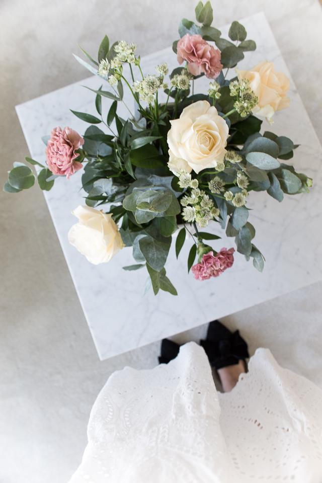 kukkakimppu, kukkakauppa leinikki, Villa H, sisustus