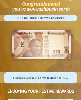 Freecharge colour me cashback offer