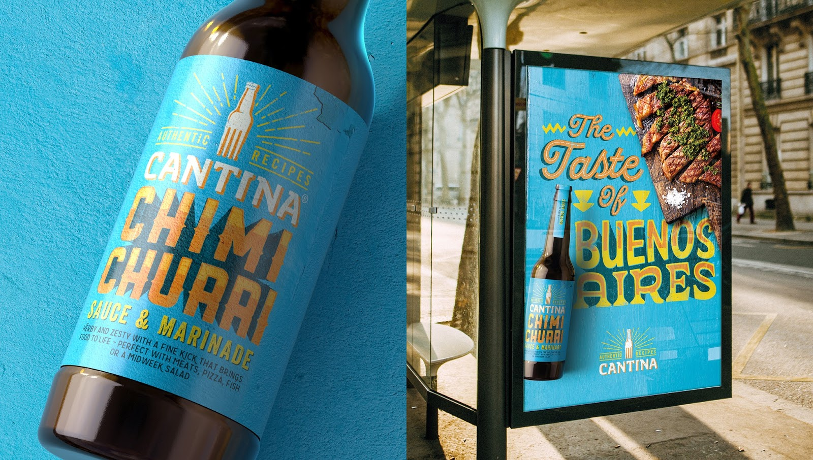 Cantina Design Cantina Argentinian Chimichurri Sauce On Packaging Of