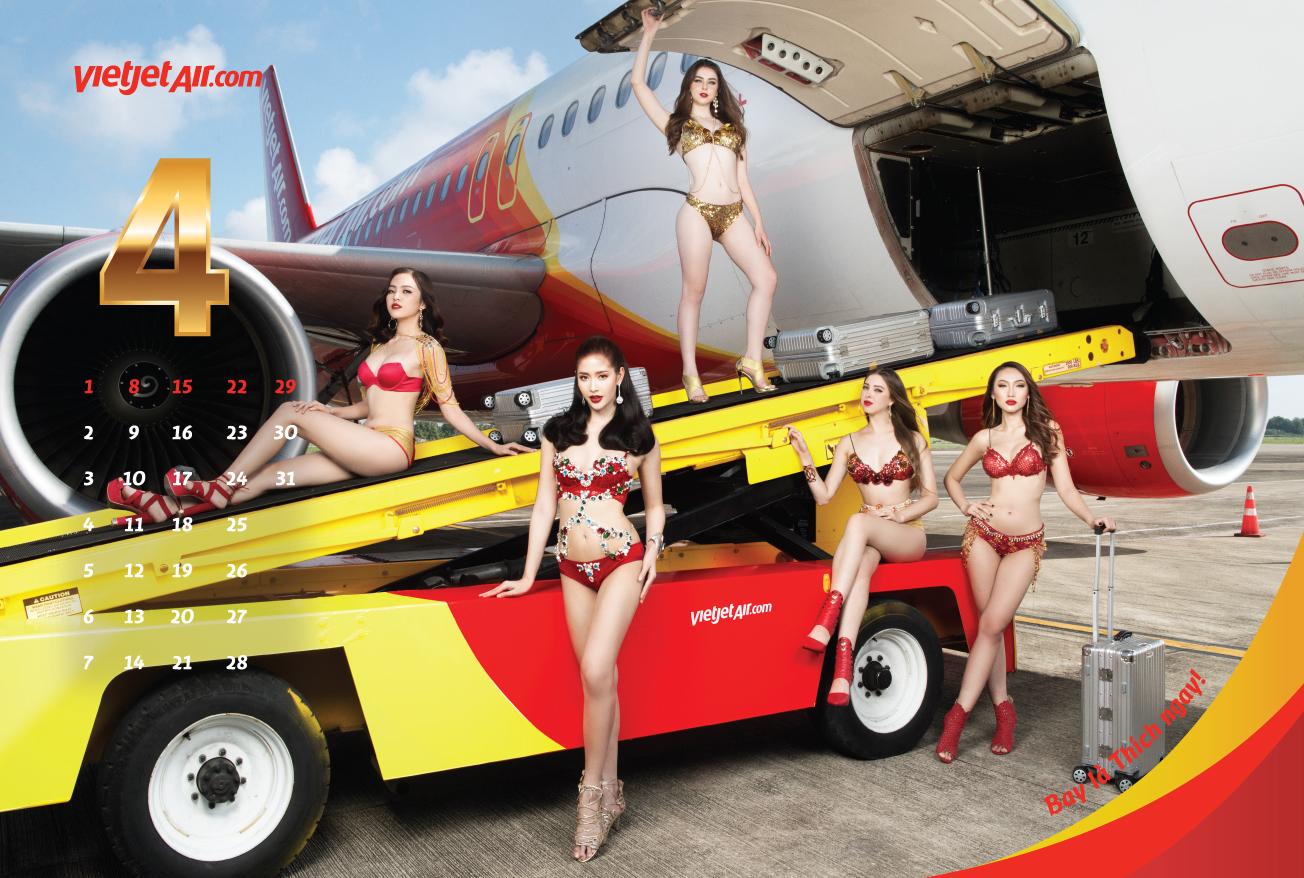 Critics say VietJet's risque marketing, including the calendar and bikini fashion shows on board planes, presented an archaic and sexist image of cabin crew.