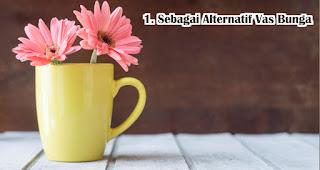 Mug Sebagai Alternatif Vas Bunga