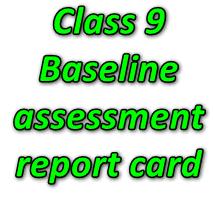 Class 9 Baseline assessment report card